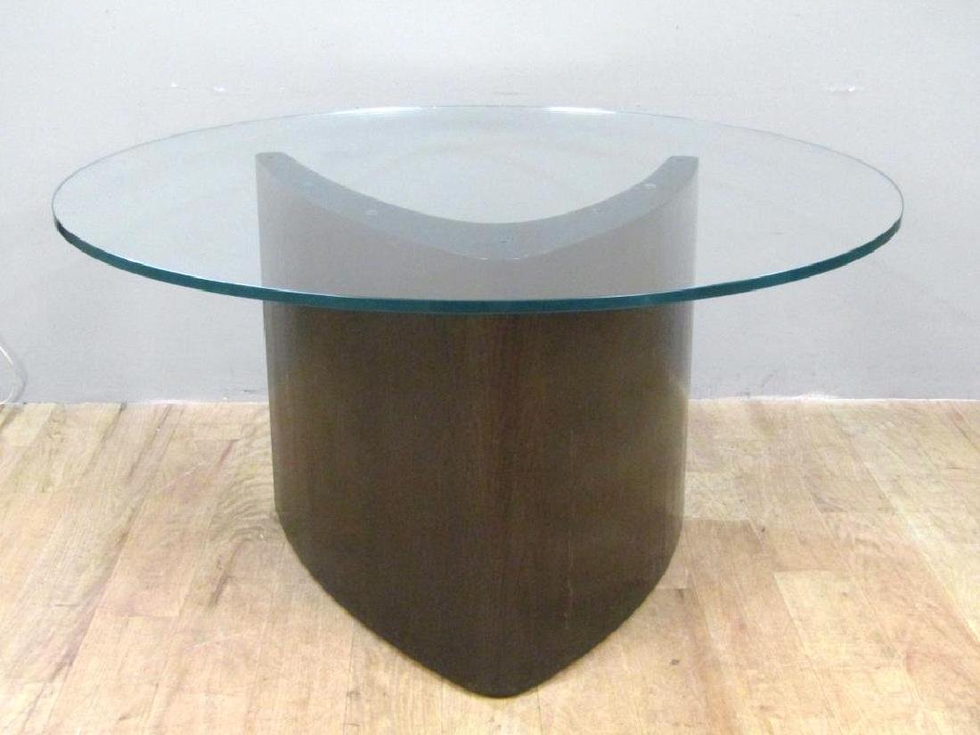 Modern Glass Top Round Dining Table