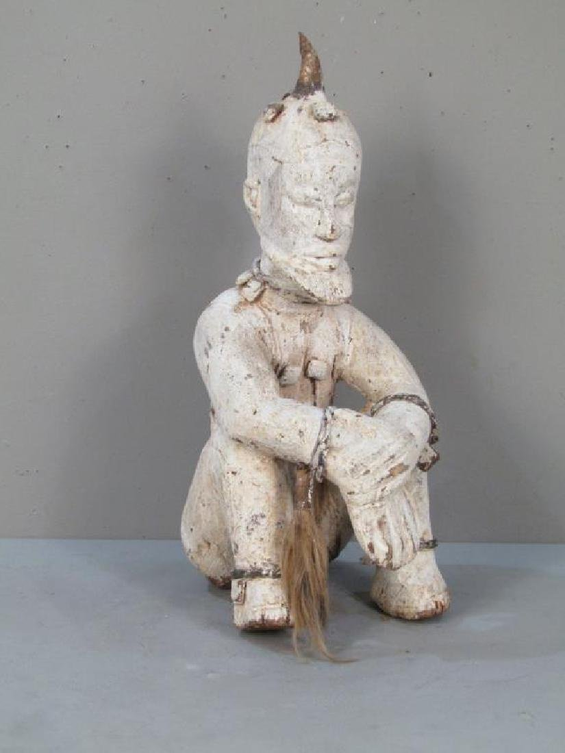 Ethnic Painted Wood Sculpture