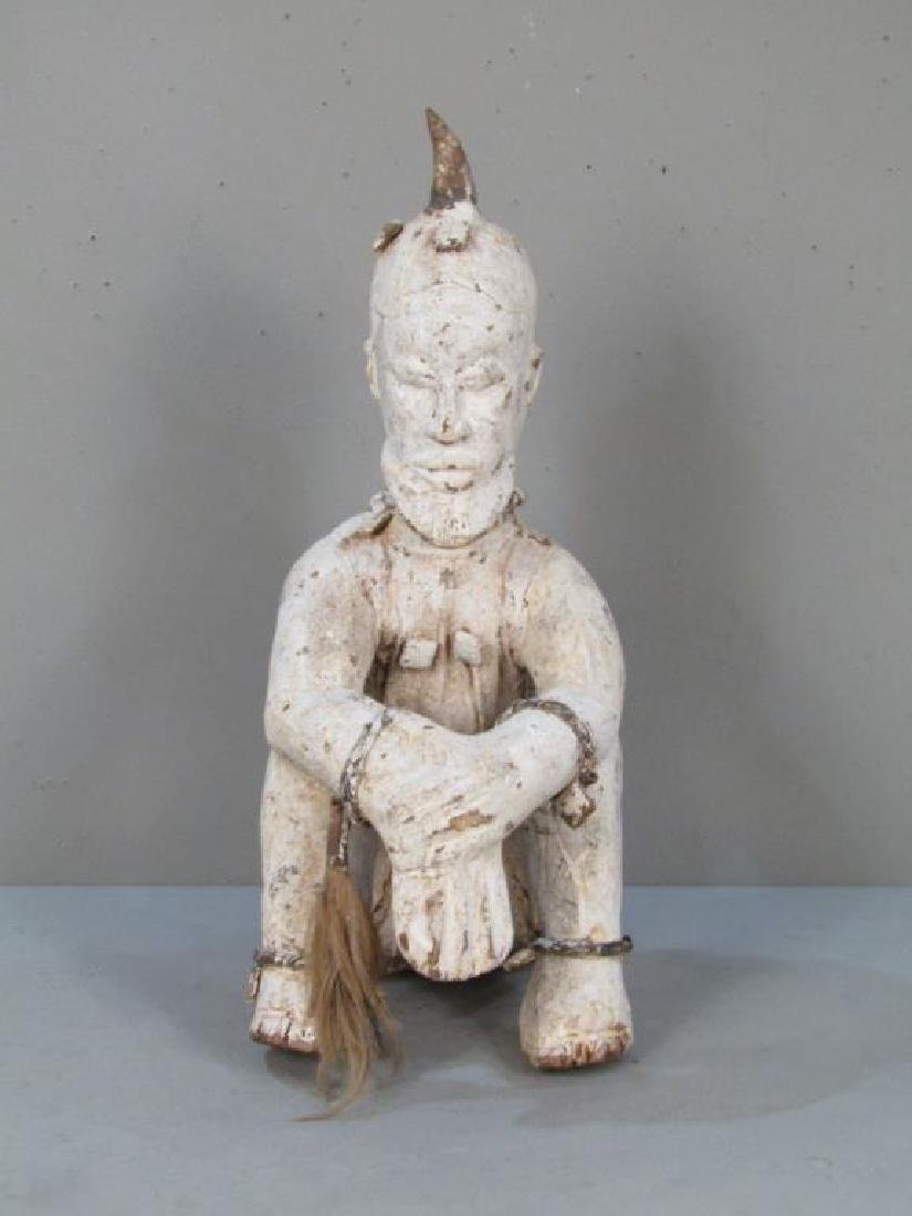 Ethnic Painted Wood Sculpture - 4