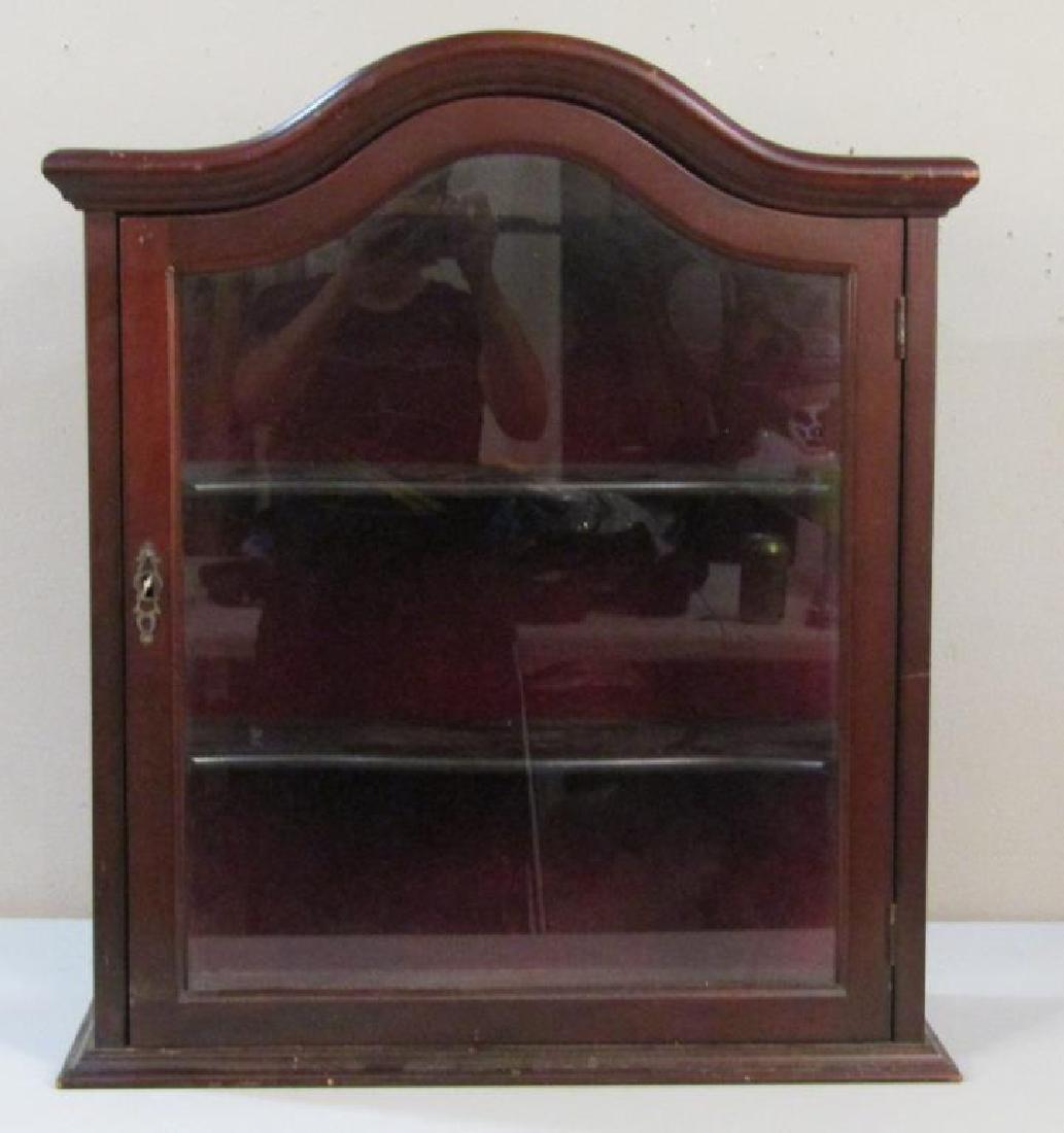 Mahogany Hanging Display Cabinet