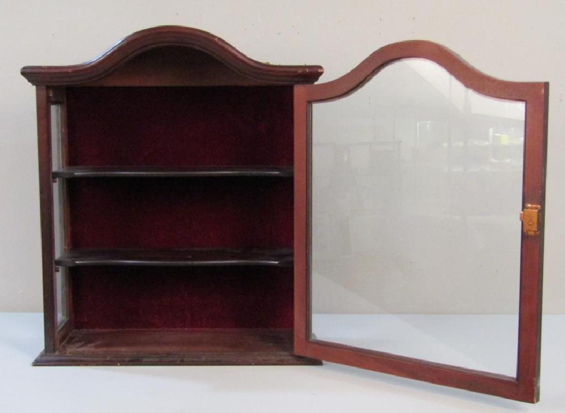 Mahogany Hanging Display Cabinet - 2