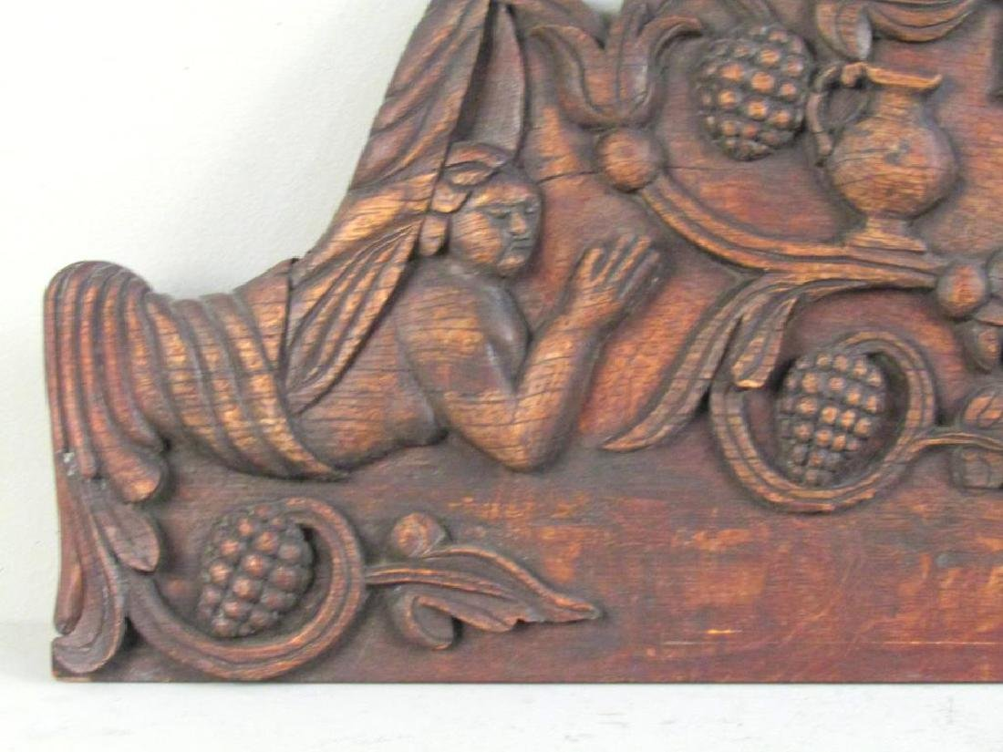 Continental Carved Wood Plaque - 2