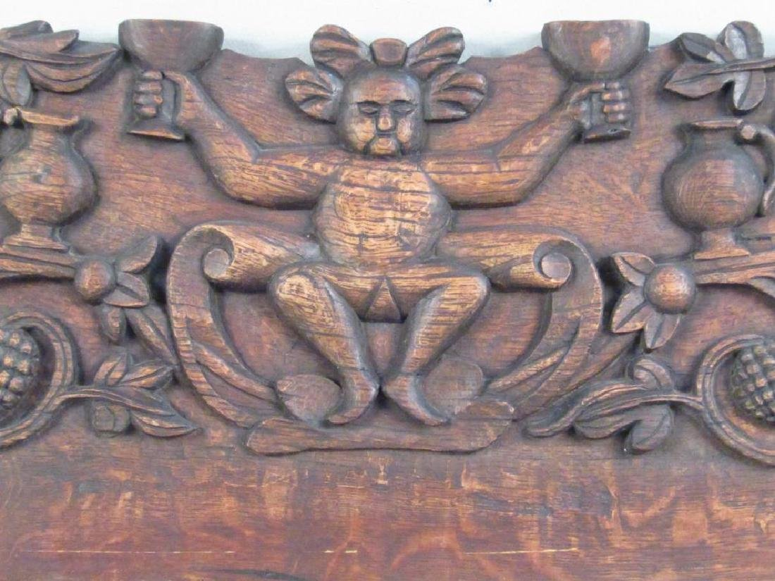 Continental Carved Wood Plaque - 3