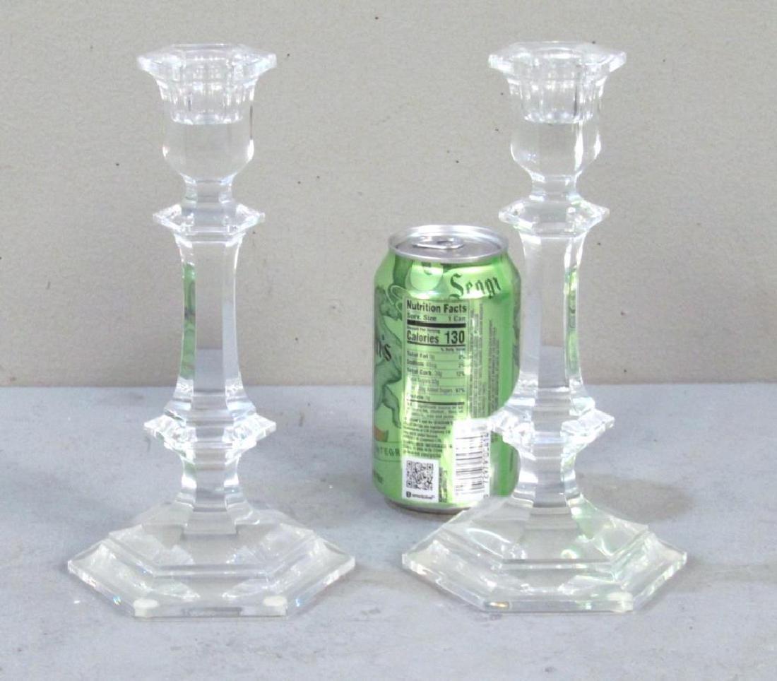 Pair Baccarat Crystal Candlesticks - 2
