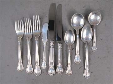 119 Piece Gorham Sterling Silver Flatware Set