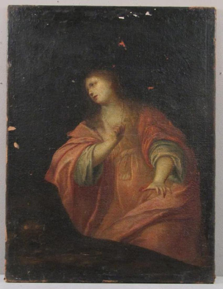 Antique Oil on Canvas of Mary Magdalene *** - 2
