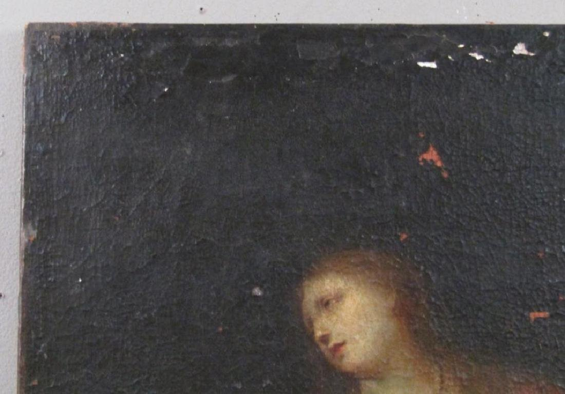 Antique Oil on Canvas of Mary Magdalene *** - 3