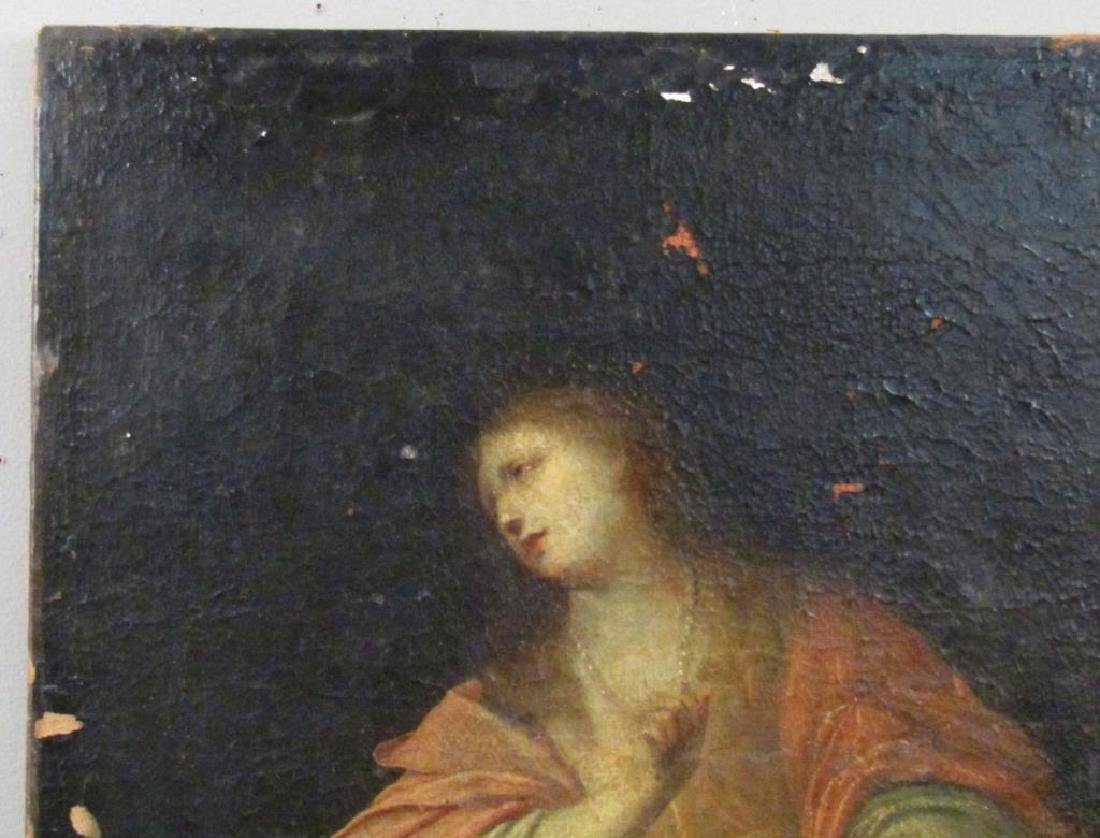 Antique Oil on Canvas of Mary Magdalene *** - 4