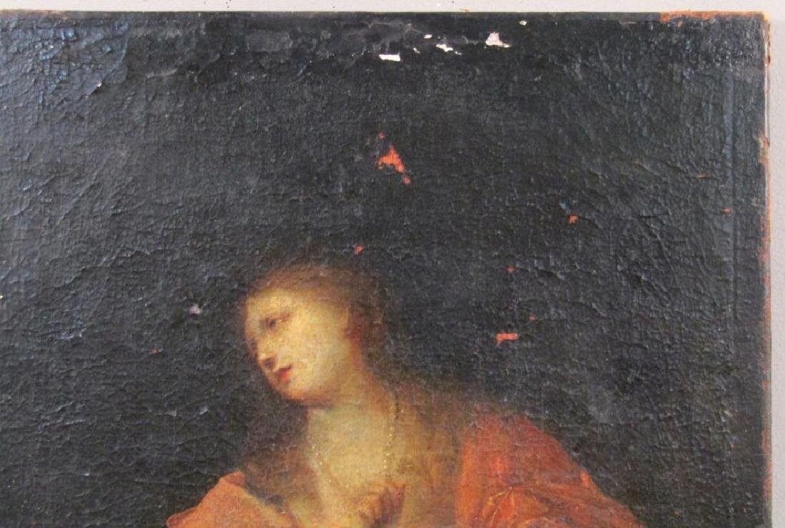 Antique Oil on Canvas of Mary Magdalene *** - 5