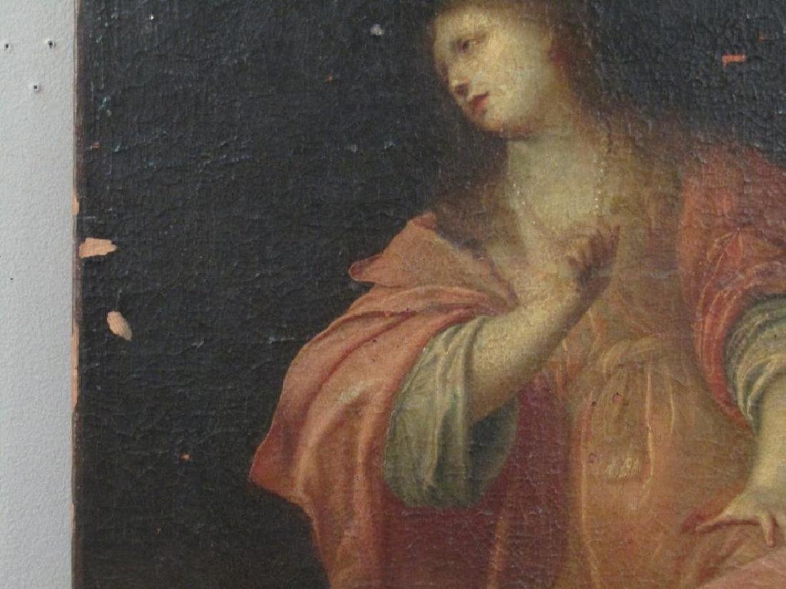 Antique Oil on Canvas of Mary Magdalene *** - 6