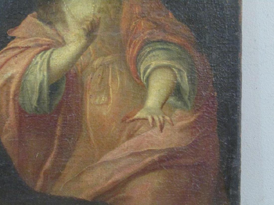 Antique Oil on Canvas of Mary Magdalene *** - 7