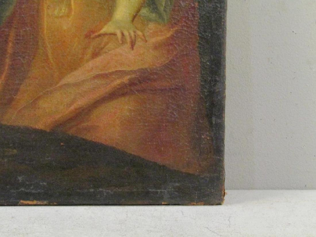 Antique Oil on Canvas of Mary Magdalene *** - 9