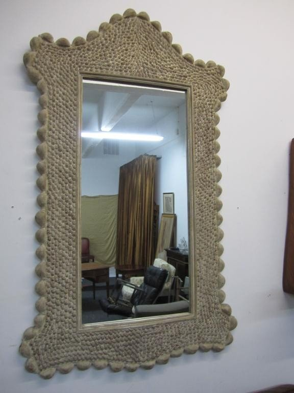 2: Large Composition Sea Shell Style Mirror