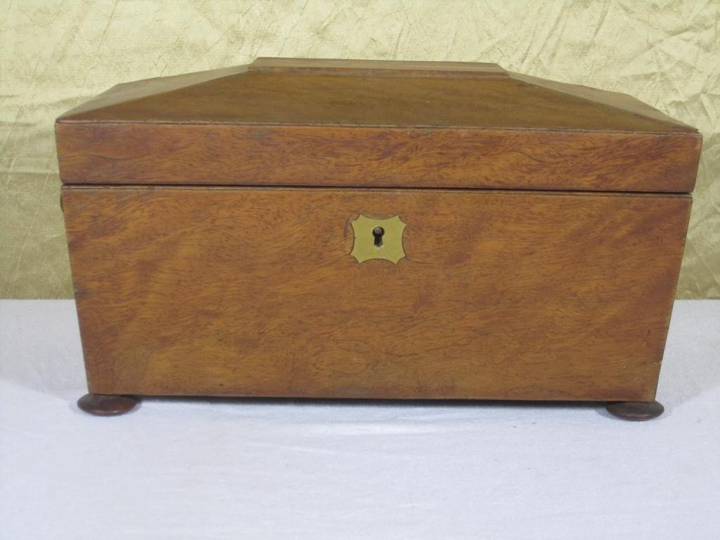 11: Antique English Tea Caddy