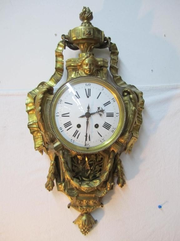 1: Japy Freres French Bronze Cartel Clock
