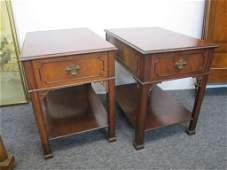 157: Pair Schmieg & Kotzian End Tables