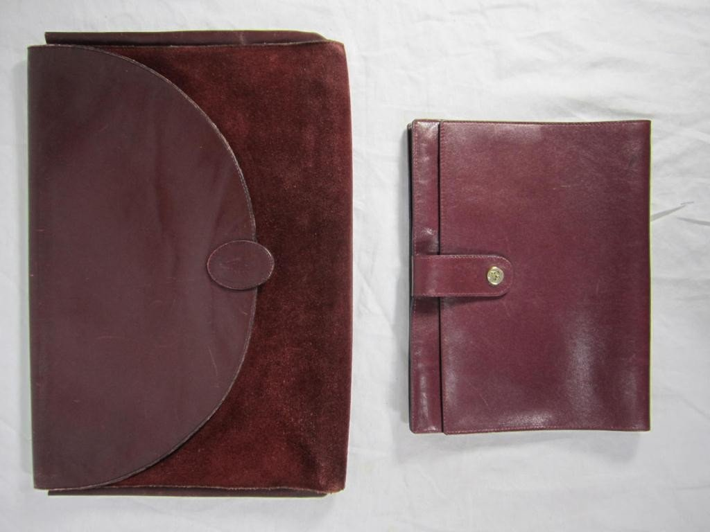 9: 2 Leather Valises - Cartier and Cross
