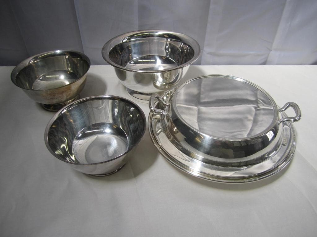 5: 4 Silver Plated Articles - Revere Reproduction and