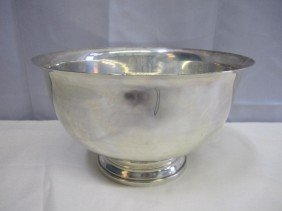 6: Amston Sterling Silver Revere Style Bowl