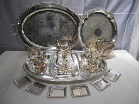 8: Large Lot Silver Plated Articles