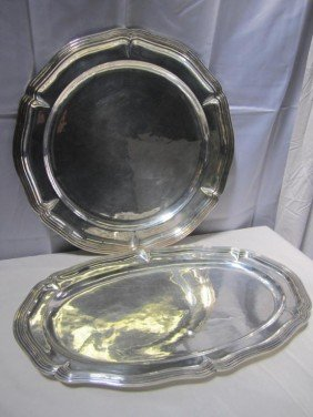 16: Set 2 Large Mexican Sterling Platters (110 oz.) ***