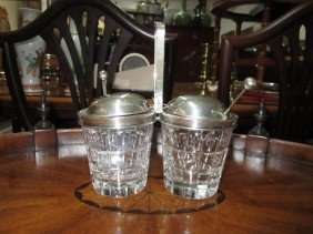 19: Sterling Mounted Condiment Server