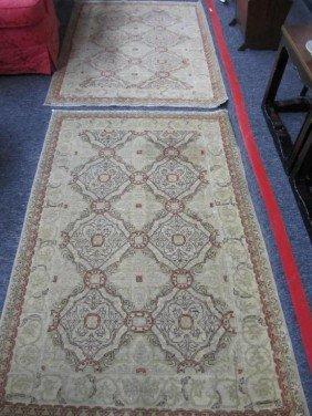 Pair Oriental Rugs - 3 X 4.6