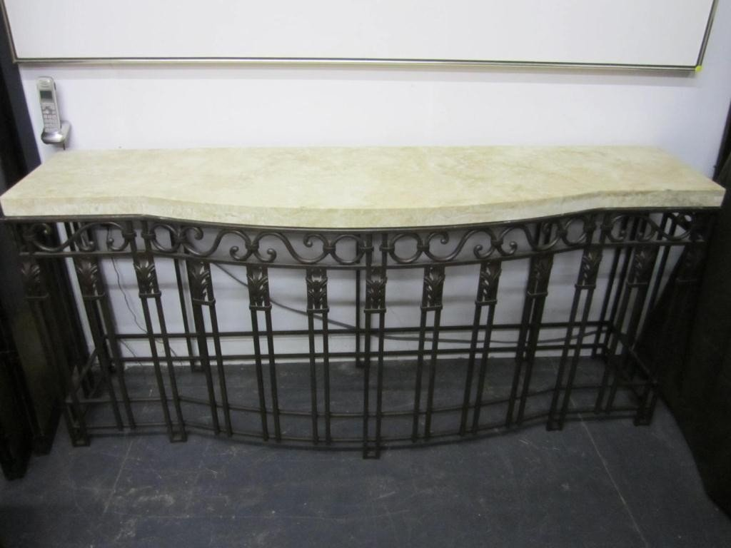 233: French Style Wrought Iron Console