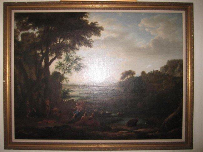 272: After Claude Lorrain (Gellee) Oil on Canvas