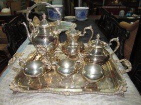 20: 7 Piece Silver Plated Tea & Coffee Service