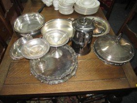 24: Assorted Silver Plated Articles - Serving Items