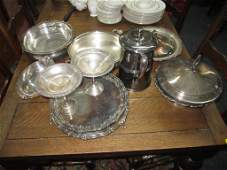 24 Assorted Silver Plated Articles  Serving Items
