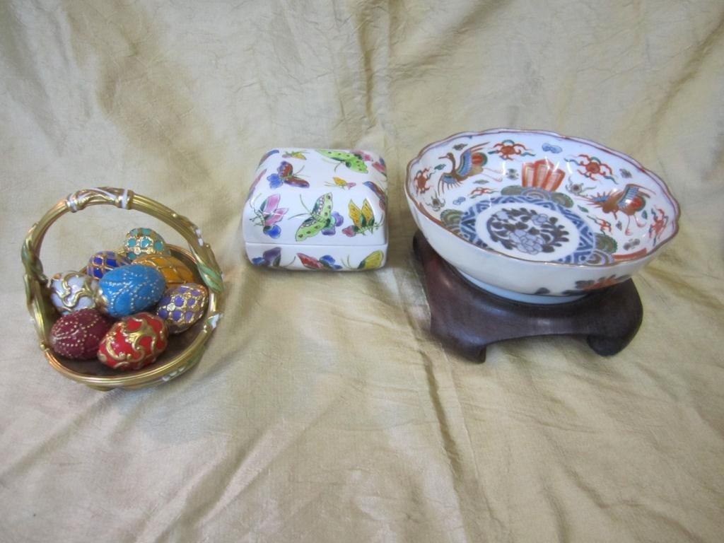 40: Assorted Porcelain Including Egg Basket