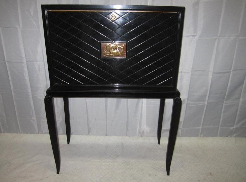 2: French Art Deco High Leg Fall Front Desk