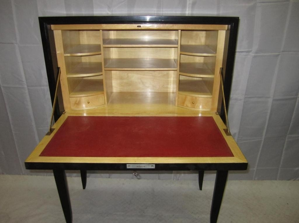 2: French Art Deco High Leg Fall Front Desk - 5