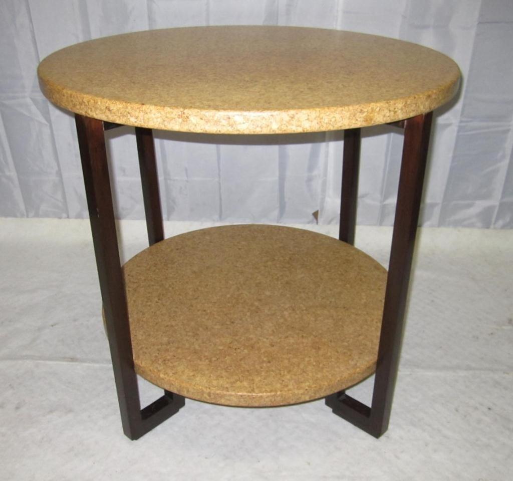 4: Art Deco 2 Tier Cork Top Table