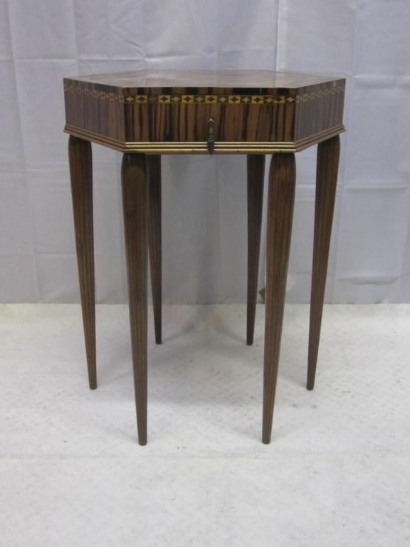 7: Art Deco Hexagonal Occasional Table