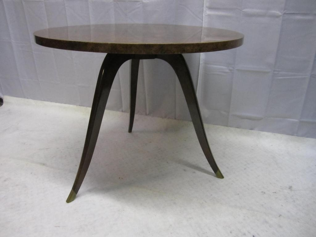 12: Mid-Century Round Occasional Table