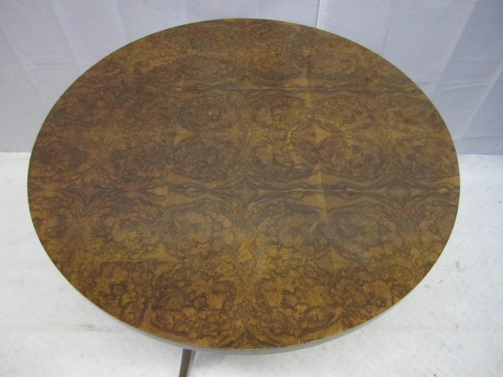 12: Mid-Century Round Occasional Table - 2