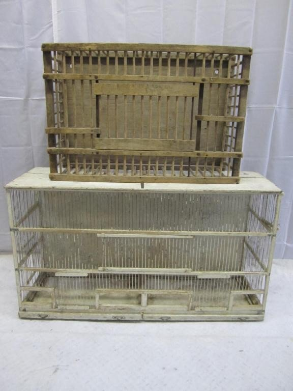 18: 2 Wood Framed Chicken Coops / Pigeon Cages