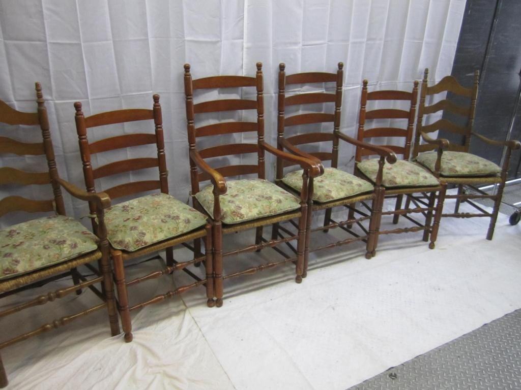 20: 6 Colonial Style Chairs