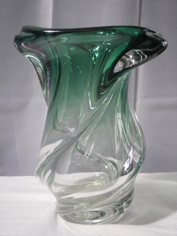 25: Free Form Art Glass Vase