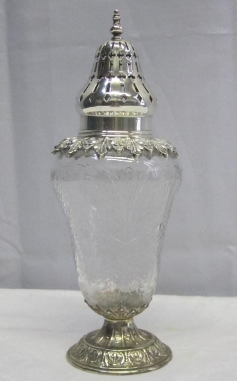 2: Sterling Silver Mounted Muffineer