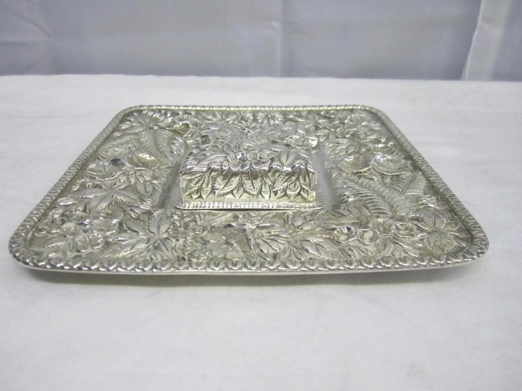 3: S. Kirk & Son Square Sterling Dish