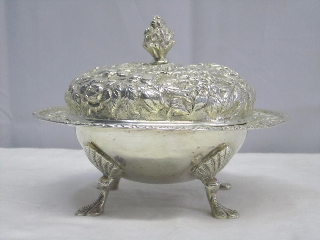 8: S. Kirk & Son Sterling Covered Bowl