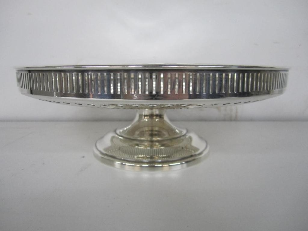 1: Sterling Silver Pierced Large Compote (17 oz.)