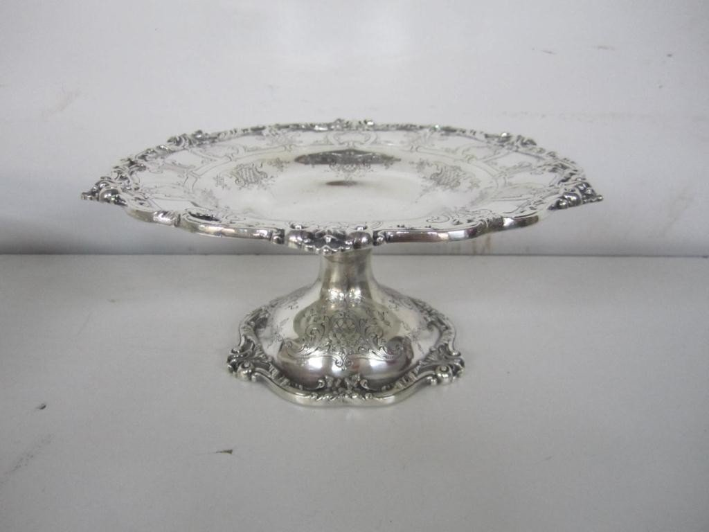 4: Sterling Silver Decorated Tazza (17 oz.)