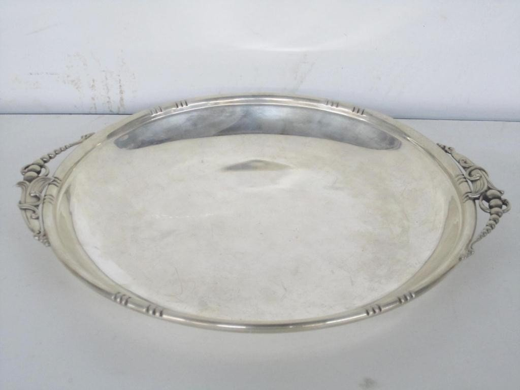 9: Art Deco Round Sterling Tray (11 oz.)