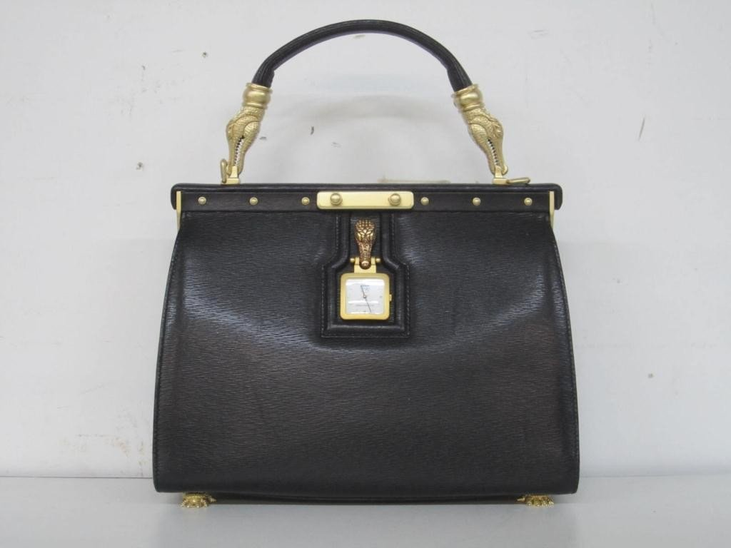 22: Kieselstein-Cord Black Leather Ladies Bag