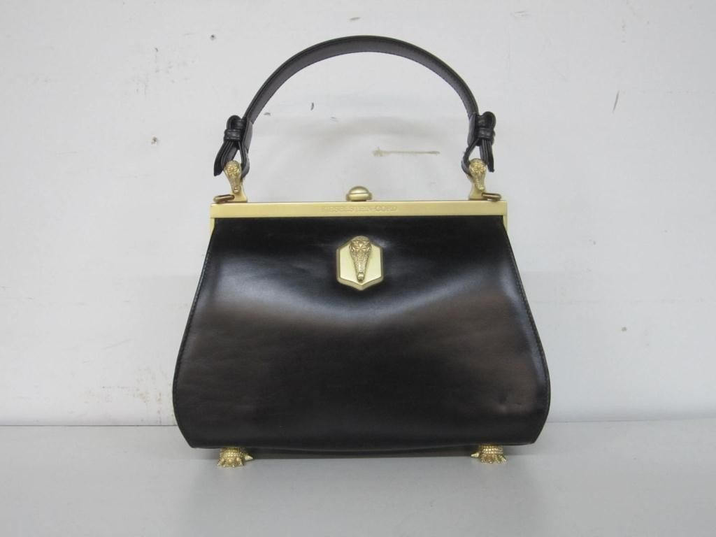 23: Kieselstein-Cord Black Leather Ladies Bag